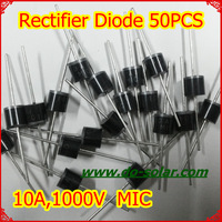 50PCS MIC 10A10 10A 1000V Rectifier Diode for solar panels, DIY solar system in stock