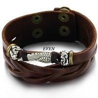 Wholesale Hot sale Accessories Vintage Multi-Layer Genuine Leather Bracelet Male Men's Casual Bracelet Cowhide Bracelet Bangle