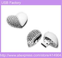 Hot Jewelry heart usb modle 1GB 2GB 4GB 8GB 16GB 32GB USB 2.0 Flash Memory Stick Drive Thumb/Car/Pen