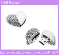 Hot Jewelry heart usb modle 1GB 2GB 4GB 8GB 16GB 32GB USB 2.0 Flash Memory Stick Drive Thumb/Car/Pen