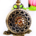 black surface retro hollow  flip chain elegant mechanical pocket watch    158,490