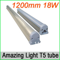 1200mm 18W T5 led  tube light, 1550lm with 168pcs SMD3014,  Free shipping for 12pcs/lot, 3 years warranty