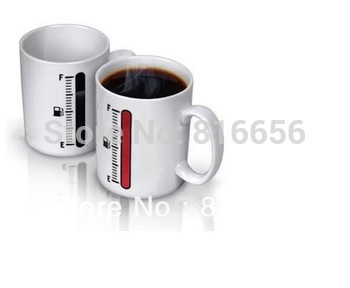 1 piece/lot Thermometer Mug Cup Temperature Colour Changing Cup Free shipping+Drop shipping