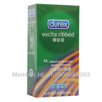 36condom / lot Durex Condoms, sex condom,  Durex excita ribbed Condoms  sex products wholesale  with safe packing free shipping