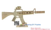 3D jigsaw puzzle brain teaser 3d DIY model assembling toy Carbine 15