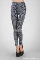 2013 New arrival  Women's Animal Snake Tattoo Fashion Leggings Stretch Skinny Leg Pants Jeggings Cheap price H143