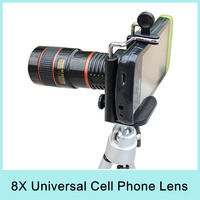8X Zoom Universal Telescope Long Focal Camera Lens for iPhone Mobile Phone with Mini Tripod Holder