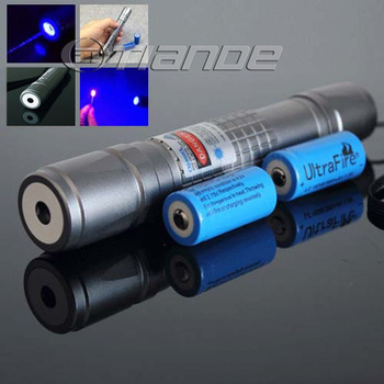 405nm 500mW waterproof focusable violet blue laser pointer flashlight light cigars free shipping TD-BP-132