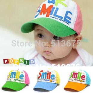 Free Shipping Spring 2014 new smiling faces boy/girl cap children hat sun hat baby baseball cap kid spring/atumn cap