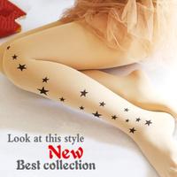 wholesale freeshipping Fashion stars tattoos bottoming socks slim sexy pantyhose  women socks