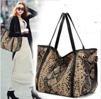 Free shipping 2013 fashion women's genuine cowhide leather snake pattern handbag shoulder cross-body bag big bags