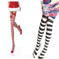 Freeshipping HOT 120D stripe legging  pantyhose Stocking STOCKING
