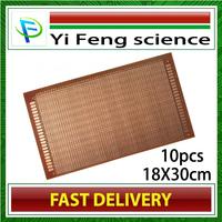 FREE SHIPPING 18 * 30CM universal board 18X30cm universal board / Pegboard / experimental board / bakelite PCB board