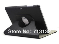 Magnetic Smart Cover Leather Case for samsung P7500/P7510 with 360 Degrees Rotating Stand, for Samsung GALAXY Tab 10.1""