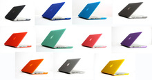 Free Shipping Transparent Rubberized Matte Case Hard Cover Sleeve For macbook air pro 11 13 15 with retina display ,without logo(Hong Kong)