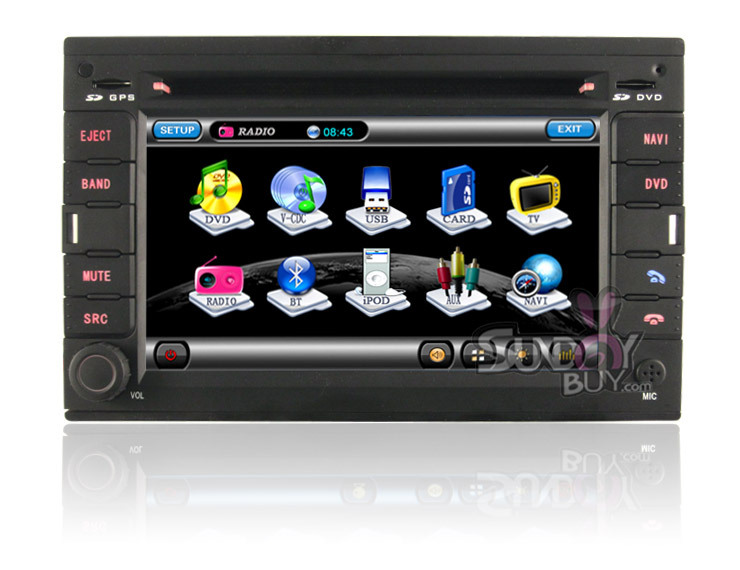 For Volkswagen Polo Bora Passat B5 2 Din 6.2 Inch Car DVD With GPS Navigation Stereo Radio TV(China (Mainland))