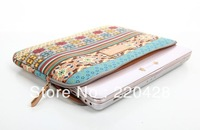 Fashion Bohemia laptop sleeve case computer bag notebook smart cover for ipad MacBook  10pcs/lot Free Shipping