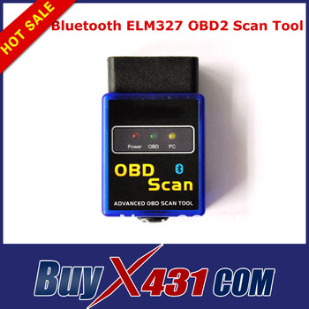 2013 Wholesale Promotion Bluetooth ELM327 OBD2 Scan Tool ELM 327 Car Diagnostic Scanner Tool Free Shipping