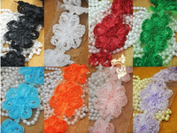 "Free Shipping 2.5"" Mesh  Chiffon Rose Trim,shabby Chiffon Flowers,Hair Accessories Shabby Flower Trim Chiffon Trim 10yards/lot"