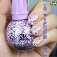 Latest Nail polish  Free shipping 6pcs/lot Snow Nail polish nail care Product
