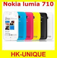 Original Unlocked Nokia Lumia 710 8GB Storage 5MP camera WIFI GPS Windows OS cell Phones in stock Free Shipping