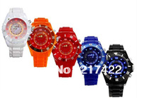 New Innovative and Fashion Design Jelly Silicone Blue and Multicolor LED Digital Watch