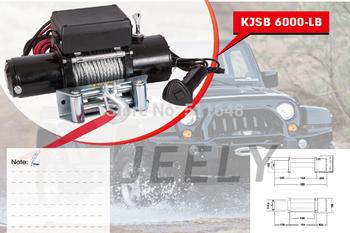 Free shipping 12V 6000LB Automobile Electric Winch,ATV/UTV/4X4/4WD Car winch