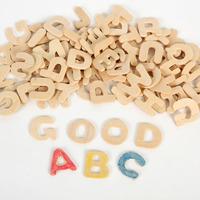 104pcs/lot Paint wood alphabet Art fun Early educational toys Wood toys Diy crafts 20mm Freeshipping wholesale