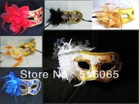 free shipping Masquerade masks  - decoration fabric flower colored drawing masks