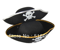 Free Shipping Pirate props pirate skull cap  royal pirate hat