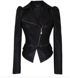 Free Shipping 2013 Fashion Women Special Design Sexy Leather Jackets, Ladies Plus size Motorcycle coat(China (Mainland))