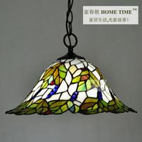 2012 hot sale Green leaves grapes  tiffany lamp  fashion pendant light dia 40cm free shipping