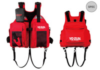 Free Shipping New Brand YOZURI 600D high density polyester shell farbic Fishing life Vest Adult Size red color