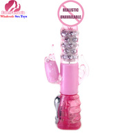 Baile Brand Dia:43mm, L:267mm ABS+TPR sex vibrator rabbit rotating vibrator sex massager adult products erotic toys for women