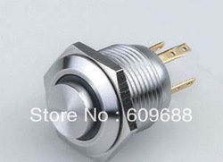 16mm LED Metal Push Button Switch/Pushbutton,self-return,Stainless Steel(China (Mainland))
