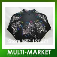 Free shipping/Lulu umbrella guinness automatic umbrella folding sun protection umbrella