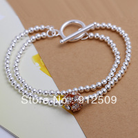 Min order US$15 Ladies love silver bracelet FH044