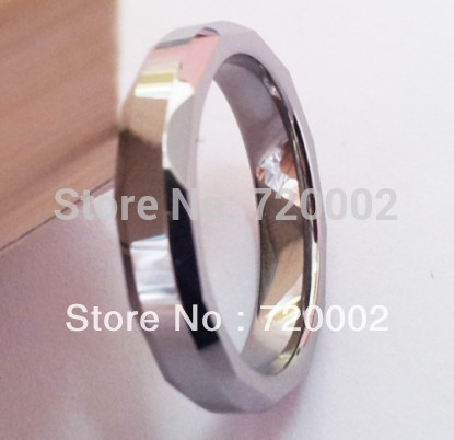 Free Shipping Hot Sale Fashion Tungsten Steel Ring Unisex Finger Ring Polish & Brush Crafts Item TF-039(China (Mainland))