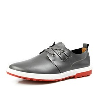 2013 summer colors men shoes genuine leather size 38 - 43 (Yellow, Reddish Brown, Black, Gray, Sky Blue) Free ship