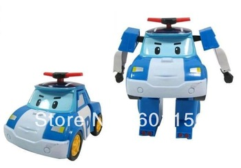 2013 VERY FUNNY HAPPY TOY 4pcs/lot Robocar poli.poli transforming robot 4 models , FREE SHIPPING
