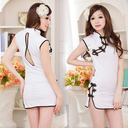 2013 women hot sale new fashion sexy qipao nightgown night dress sleep tops shirts robes pajamas set nightgown for lady girls(China (Mainland))