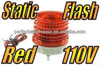 Red 2 inch Rotating Static LED Flashing Beacon Warning Lights 110V