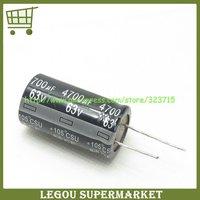 10pcs/Lot  4700UF 63V  22*40  63V 4700UF  DIP Electrolytic Capacitor  Free Shipping