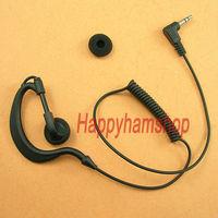 Ear Hook Headset listen only Earphone for 3.5mm jack Two Way Radio