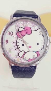 Fashion cartoon leather wristwatches,wholesale watches,hello kitty watches(B0043)