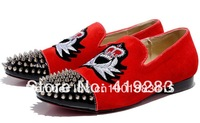2013 Red Suede Fashion Casual red bottom sneakers for men