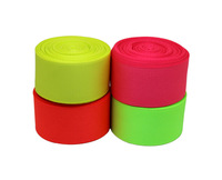 "Free Shipping -1""(25mm) Grosgrain Ribbon Lots 20 yards - Solid Color Ribbon Lots 4 fluorescence Color Mixed"