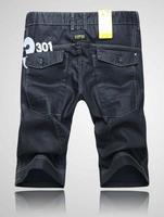 Men's fashion jeans shorts,Classic denim jeans,Brand cargo shorts,Men's summer pants.Distressed jeans.Men's 301 denim shorts