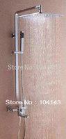 """10 """" Square Head LED Shower Faucet Rain Shower Set LJ-50059B"""