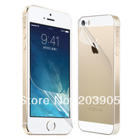 Front & Back Screen Protectors Anti Scratch ultra clear UV Protection film for  iPhone 5 / 5G  5c 5s 1000pcs/lot